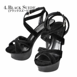 13cm ヒール 靴 パンプス サンダル パーティー 結婚式 / 黒 厚底 dazzy