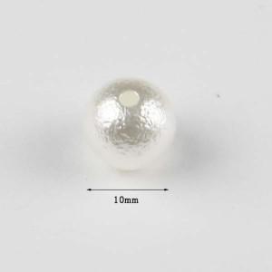 ハンドメイド/素材/材料/パーツ/コットンパール風ビーズ 10mm 約40個 pt-150909-1
