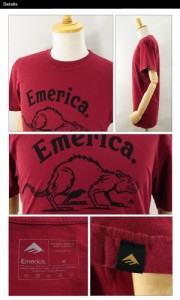 エメリカ デザインド トゥ ディファイ S/S Tシャツ カーディナル スケート スケーターウエアー (Emerica DESIGNED TO DEFY)