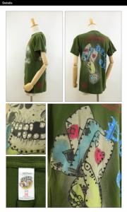 エドハーディー ラインストーン メンズ クルーネックTシャツ ラスト:オリーブ (ED HARDY MENS CREW NECK S/S TEE)
