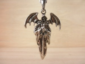 デビルネックレス・メール便(ゆうパケット)なら送料無料・骸骨・スカル・Rock・悪魔・ドクロ・ロック・キレカジ・髑髏・ M-1685