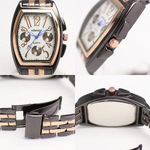 レディース腕時計 トノー型腕時計 3気圧防水  日常生活防水 3気圧防水 樽型 全2色