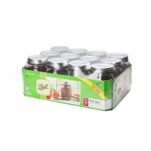 メイソンジャー レギュラーマウス 16oz クリア 密閉瓶 保存瓶 サラダジャー / Ball Mason Jar / 人気商品
