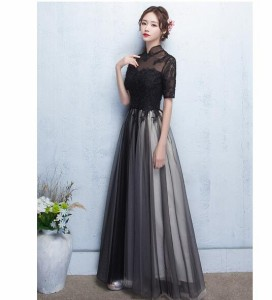 パーティードレス 結婚式 ドレス ウェディングドレス ロング お呼ばれ ピアノ演奏会 発表会 大きいサイズ