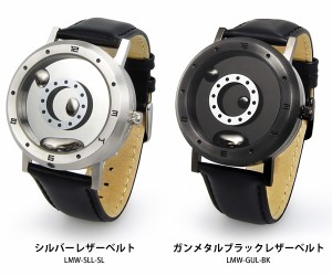 LM watch LMW リキッドメタルウォッチ 腕時計 時計 レザーベルト メンズ レディース メンズ腕時計  ガンメタル シルバー 液体