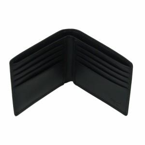 コーチ COACH 二つ折り財布 74180 ブラック オプアート レザー パスケースID  アウトレット