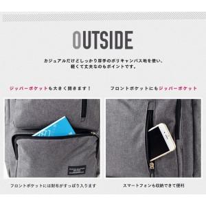 フロント2ポケットスクエアリュック メンズ リュックサック 【リュック】【3色展開】 軽量 PC対応 通勤通学
