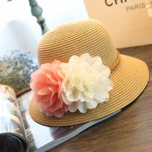 送料無料 麦わら帽子 折りたたみ ストローハット たためる 日よけ ハット  UVカット商品 春夏秋 レディース 可愛い 花
