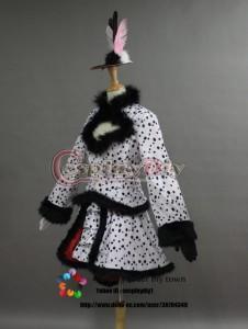 高品質 高級コスプレ衣装 ディズニーランド 風 ハロウィン イースターワンダーランド クルエラ ダルメシアンダンサー タイプ Ver.2