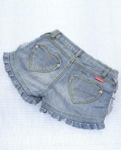 ジェニィ Jenni  デニム ショートパンツ 140cm 色落ち 紺系 女の子 ジュニア 子供服 140G70862