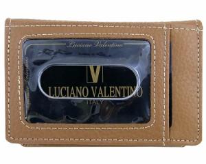 ≪特価≫[LUCIANO VALENTINO(L-バレンチノ)] 紳士用 パスケース(定期いれ) 牛革 luv-3007-ca キャメル【箱無し】≪送料無料≫