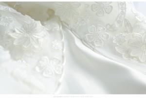 欧米風ウェディングドレス/二次会/ロングドレス/プリンセスレース/エレガント/露背/オフショルダー/マーメイドトレーン