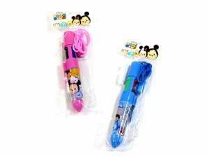 【ゆうパケット送料無料】ディズニーひも付4色ボールペンTM ツムツム 選べるお好み2本