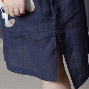七分袖     大きいサイズ ワンピース ゆったり レディースワンピース ミモレ丈 ひざ丈 チュニック  Aライン 涼しげな素材感