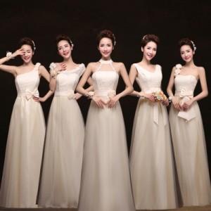 【在庫処分品】  ロングドレス花嫁ウェディングドレス 結婚式 披露宴 二次会 ウエディング ワンピース 二次会ドレス  返品不可