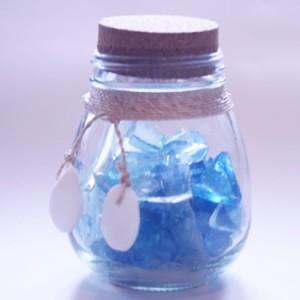 【マリン雑貨】 翌日出荷 ビーチグラスミニボトル 海 マリン インテリア 海を感じる 雑貨