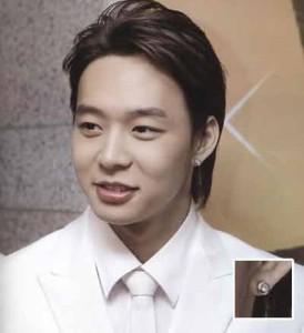 韓国スター・アクセサリー JYJのユチョンst. スワロフ ポイント ピアス EARRING(2個1セット)