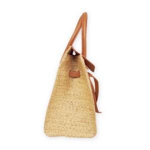 カゴバッグ かごバッグ ペーパーを編みこんだかごバッグ ペーパーバッグ 鞄 bag