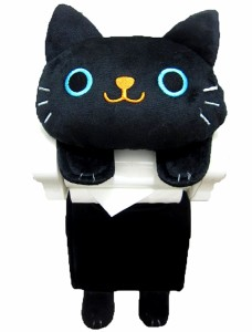 ★ 猫ちゃんの ロールペーパーホルダー クロ ★