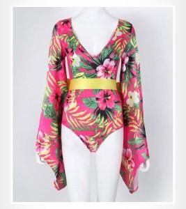 ダンス衣装 ダンスウェア レディース 浴衣 和装 和服 大人 女性  レースダンス衣装 ガールズ レオタード