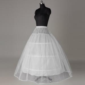 【即納】ウエディングドレス用 ワイヤー3本のパニエです ホワイトパニエ/プリンセスライン/Aライン/ハードチュール サイズ調節OK
