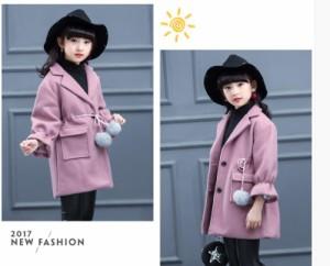 DWDM 春秋 韓国子供服 女の子 可愛い トップス 結婚式 コート ナイロンコート キッズ アウター女の子 ヘアリーコート SW616