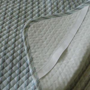 綿敷きパッド 綿しじら織り敷きパッド (シングル) ポコポコ敷パッド/敷パット/シーツ