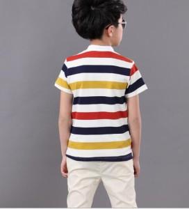 男の子 上下セットアップ子供キッズ半袖ポロシャツ+ハーフパンツ2点セット夏ボーダーTシャツ五分丈ズボン ボーイズ ジュニア