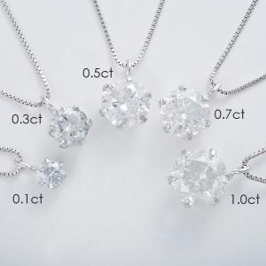 純プラチナ 0.5ctダイヤモンドペンダント/ネックレス ベネチアンチェーン(鑑定書付き) 日本製 天然石