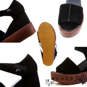サンダル ウエッジソールサンダル オープントゥサンダル レディース 靴 オープントゥ カジュアルもフェミニンも サマー デート2017新品