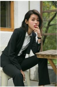 レディース  スーツ 2点セット  パンツスーツスーツ  半袖  入学式・卒業式・ 結婚式・通勤・就活 スーツ 女性用 YA321