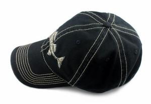 刺繍キャップ  骨柄 ベースボールキャップ  メンズ レディース 帽子 焼け対策 紫外線防止 メッシュキャップ   YO026