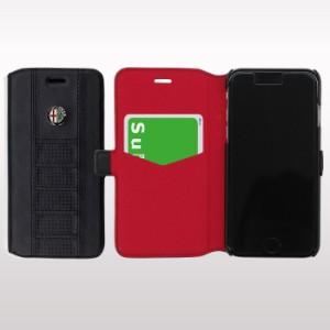ポイント10%還元 アルファロメオ 公式ライセンス iPhone7Plusケース 手帳型 アイフォン 7プラスケース 海外 ブランド メンズ かっこいい
