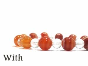 【メール便無料】サードオニキス/出会い/良縁/人脈/オレンジ/8月誕生石/ブレス/メンズ/レディース/数珠/シンプル/天然石/パワーストーン