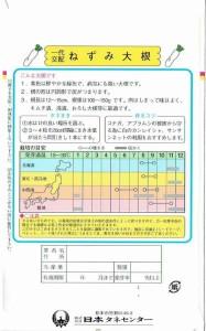 日本タネセンター ダイコン ねずみ大根 5ml