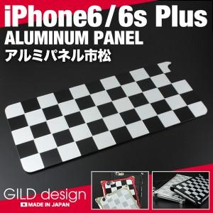 ギルドデザイン iPhone6sPlus アルミパネル市松 ソリッドバンパー対応 iPhone6Plus