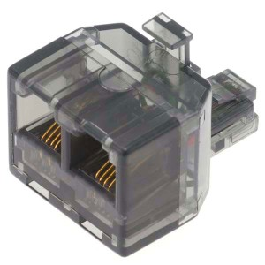 モジュラーケーブル 2分配アダプター BB-2573 オーム電機 05-2573