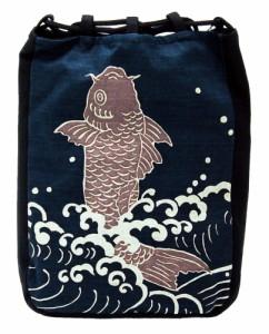 厄除け粋柄 信玄袋【鯉 こい コイ】(和柄手提げ袋)Cool Japan【バッグ】★送料無料★