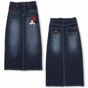 FW_SALE50%OFF 親子ペア ディズニー 刺繍デニムロングスカート-大人 レディース ベビードール 子供服/DISNEY-9766A