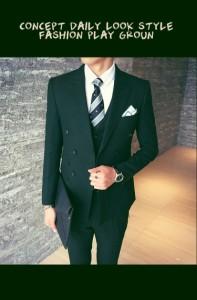 期限セール/メンズスーツ+パンツ+ベスト/ビジネスドレス/上下セット/礼服/結婚式/お祝い/成人式/卒業式/入学式/3点セット