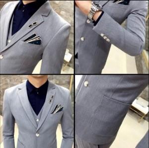 結婚式★ 品質良い ビジネススーツ メンズ3点セットスーツ通勤 卒業式 セットアッフスーツ 無地カラースーツ二次会 披露宴
