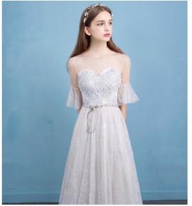 新品人気 ウエディングドレス 花嫁ドレス 二次会ドレス 編み上げ パーティードレス ウェディング 大きいサイズ 結婚式 披露宴