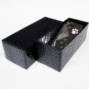 『送料無料』マネークリップ フットプリント キャット ブラック 日本製