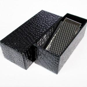 【送込】 マネークリップ カーボン ブラック 日本製