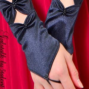 忍者風なクリスタルカットがクールな手先メイク★大ヒットロンググローブ手袋☆指先カット[メール便OK]ドレスワンピを華やかに♪
