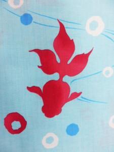 夢工房 仕立て上がり浴衣 浴衣 対応身長 155cm-165cm 綿紅梅水色地 金魚 柄no29322
