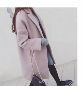 ファッション 韓国風 レディース服 コクーン チェスターフィールド・コート 柔らかく肌触りも滑らか OFFもONも着こなし良し 着心地が抜群
