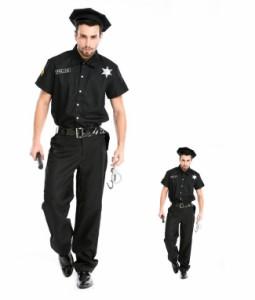 [ハロウィン コスチューム コスプレ cosplay 男性用 man's 警察 刑事 メンズ パーティー ダンス衣装 イベント用 衣装 変装 仮装