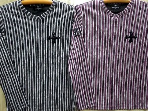 BE AMBITION   長袖Tシャツ  クロスワッペン&ロゴ刺繍 ビーアンビション