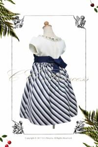ワンピースドレス GD-236-B 大サイズ 130-160cm 女の子 ワンピース フォーマルドレス  結婚式 ネイビー 130 140 150 160 CC-Princess